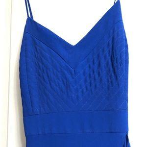 Long blue dress Badgley Mischka